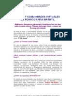 Foros y Comunidades Virtuales de Pornografía Infantil