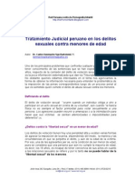 Tratamiento Judicial Peruano en Los Delitos Sexuales Contra Menores de Edad