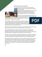Energia Solar Para Uso Residencial