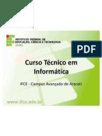Apresentação do Curso Técnico em Informática
