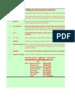 Database Format