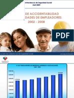 Tasas de accidentabilidad 2002-2008