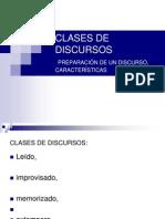 CLASES DE DISCURSOS
