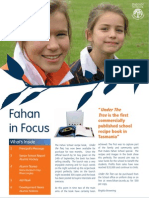 Newsletter Sample - Fahan in Focus