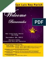 Mission San Luis Rey Parish Bulletin for 11-20-2011