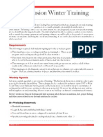 Dynamic Winter Training Agenda-2012
