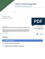 PacWest E&P Vertical Integration Trends, Nov 2011
