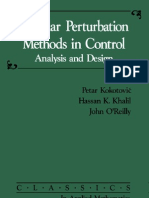 Singular Perturbation Methods in Control Analysis and Design Classics in Applied Mathematics