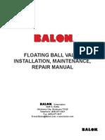 BALON Floating Valve - Installation and Repair Manual 2