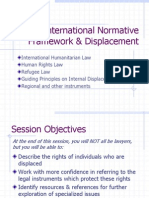 International Normative Framework & Displacement