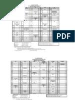 jadual kelas PGG 2012