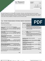 PDResearch Website Development Wireframes