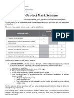 Group Project Mark Scheme