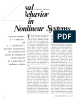 Unversal Behavior in Nonlinear Systems