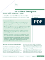 Indian Agriculture and Rural Development