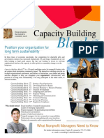 Capacity Building Blocks Nonprofit Training Brochure