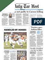 The Daily Tar Heel for November 18, 2011