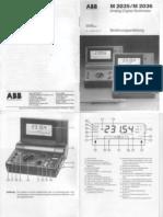 Handbuch ABB M2035
