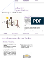 Taxnews Amendments to Cyprus Tax Laws Sept 2011