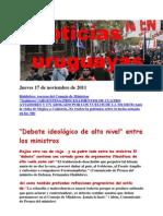 Noticias Uruguayas Jueves 17 de Noviembre de 2011