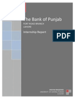 Internship Report, The BANK of PUNJAB