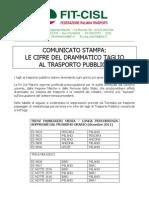 2011.11.16 Com Stampa Ulteriori Tagli Trasporti