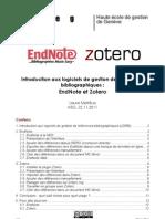 Introduction aux logiciels de gestion de références bibliographiques
