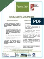 INNOVACION Y UNIVERSIDAD - INNOVATION AND UNIVERSITY (Spanish) - BERRIKUNTZA ETA UNIBERTSITATEA (Espainieraz)