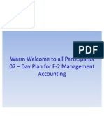 F2-Management Accounting 07 Days Study Plan