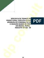 ST 022 - 1999 - Proiect, Ex Si area Drumurilor Comunale
