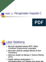 PENGENALAN KEPADA  PROGRAMMING C