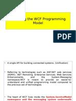 Exploring the WCF Programming Model