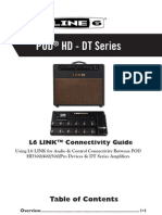 L6 LINK Connectivity Guide for POD HD & DT Amplifiers (Rev D) - English