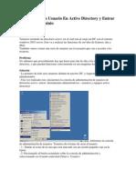 Como Crear Un Usuario en Active Directory y Entrar Una PC Al