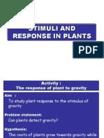 Experiment Response in Plants Gravity