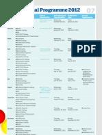 Editorial Programmes 2012