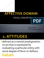 Affective Domain Concepts