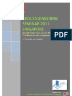 Civil Engineering Seminar 2011 Singapore) Ad