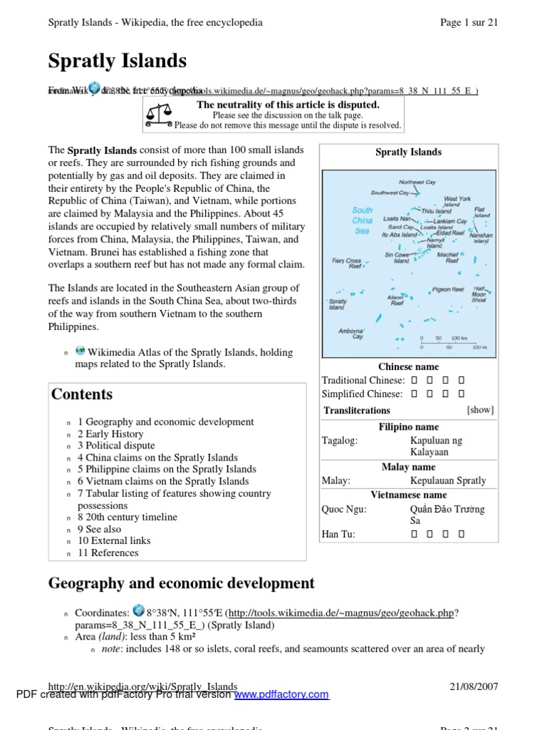 related literature about spratly island Home commentary and analysis resolving the spratly islands dispute might mean renaming the south china sea.
