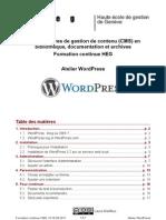 Atelier Wordpress