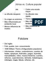 Folklore vs Cultura Popular