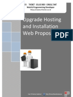 Offer Upgrade Hosting and Installation Web Proposal