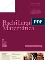 BACHILLERATO EN MATEMATICA 2012 - UAH