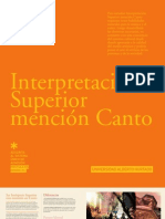 INTERPRETACION SUPERIOR CON MENCION EN CANTO 2012 - UAH