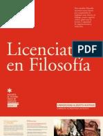 LICENCIATURA EN FILOSOFIA 2012 - UAH