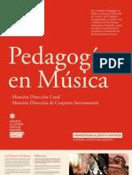 PEDAGOGIA EN MUSICA, DIRECCIÓN CORAL O CONJUNTO INSTRUMENTAL 2012 - UAH