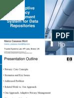 TrustBus2005-AdaptivePrivacyManagement-marcocasassamont