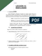 Analisis Geologico Estructual - Leccion 13 - Diaclasas