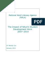 The impact of NALA student development work 2007-2010