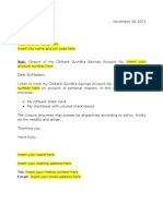 Closing bank account letter citibank suvidha account closure letter spiritdancerdesigns Images